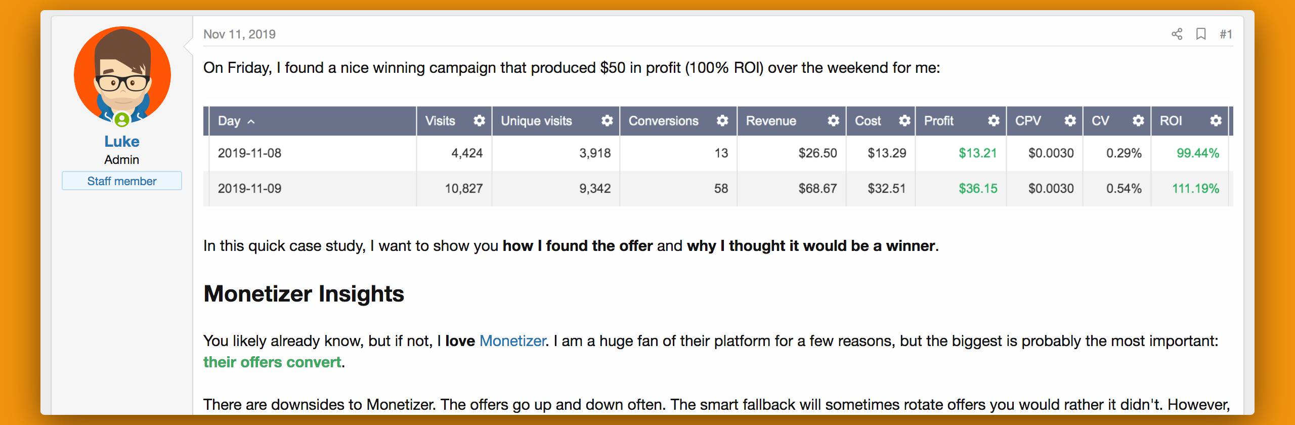 Monetizer Case Study